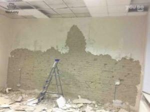 Как удалить штукатурку или стеновую доску в доме или комнате